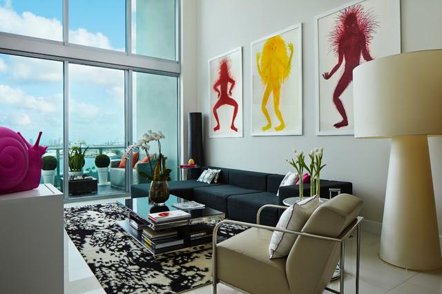 Miami Modern Interiors Overlooking Biscayne Bay