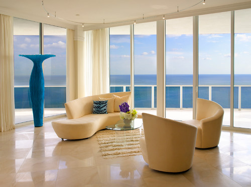 Miami Penthouse modern living room