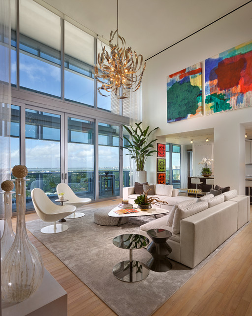 Miami PH At The Edition Contemporary Living Room Miami By Interiors B