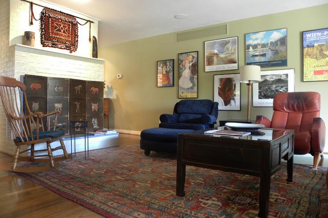 Michael & Gae midcentury-living-room