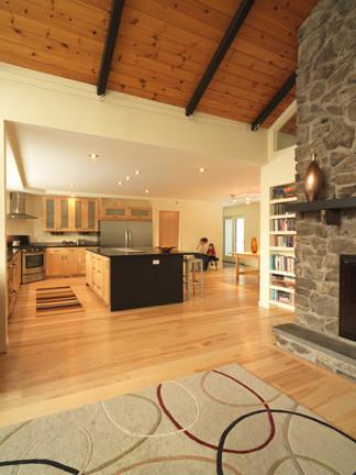 Example of a living room design in Burlington