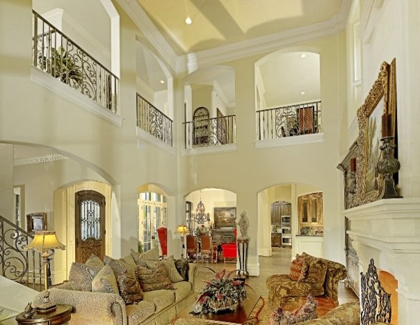 michael molthan luxury homes interior design group traditional living room - Luxury Mansion Interior