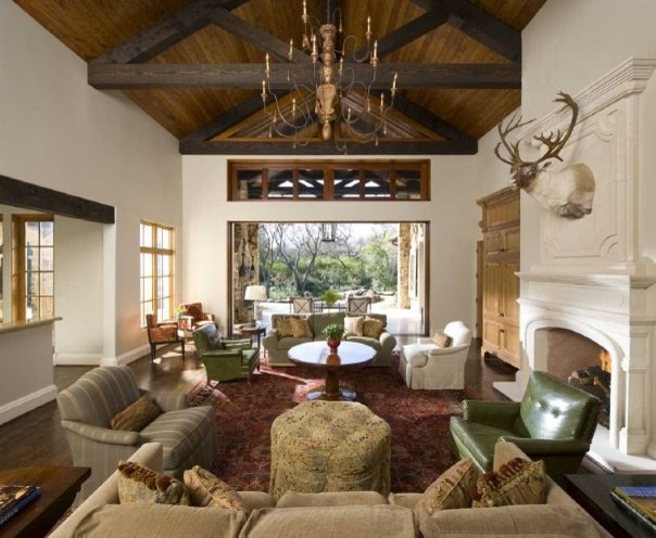MICHAEL MOLTHAN LUXURY HOMES INTERIOR DESIGN GROUP Traditional Living Roo