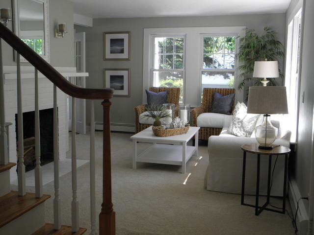 Michele Hagen Updated Beach Cottage Eclectic Living Room