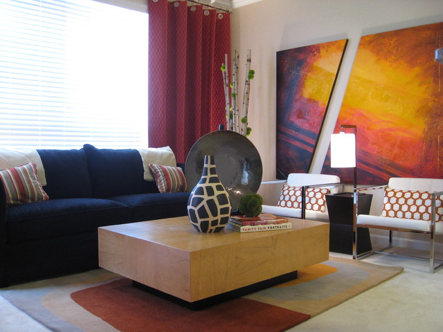 Michelle Salz-Smith, ASID, CID contemporary-living-room