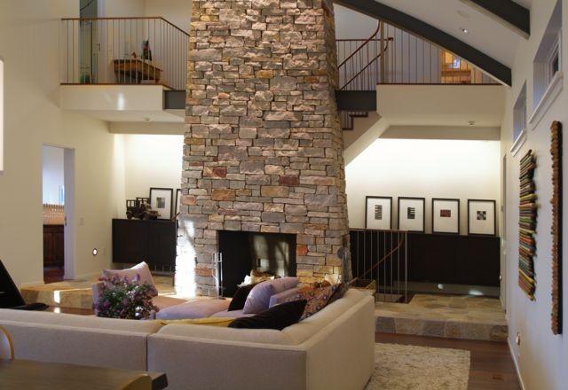 Michigan Lake Retreat contemporary-living-room