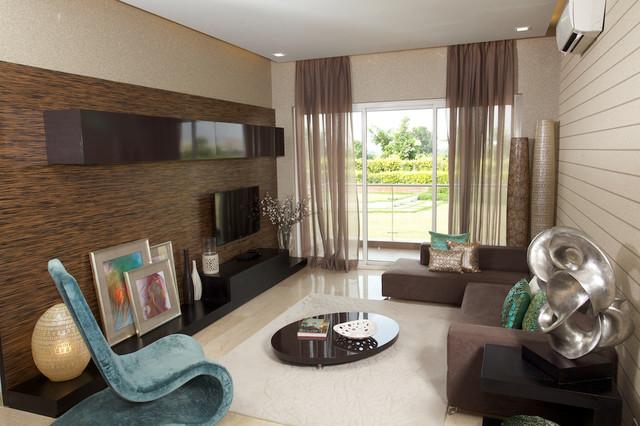 MICROTEK  GREENBURG SAMPLE APARTMENT contemporary-living-room