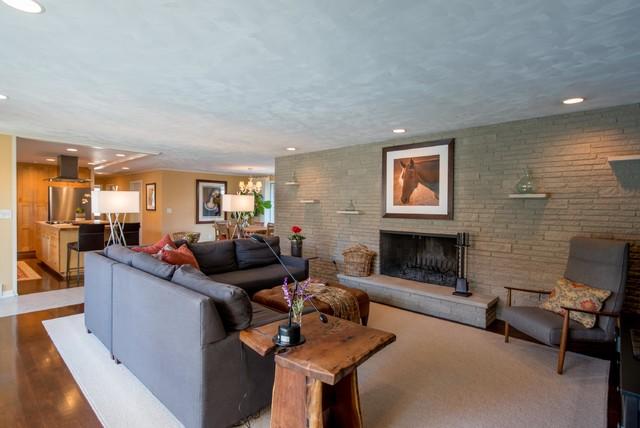 Mid 50's Ranch midcentury-living-room