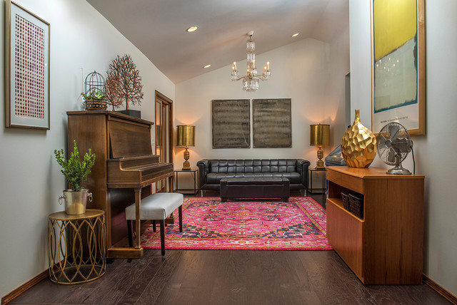 Mid Century Addition Remodel Eclectic Living Room
