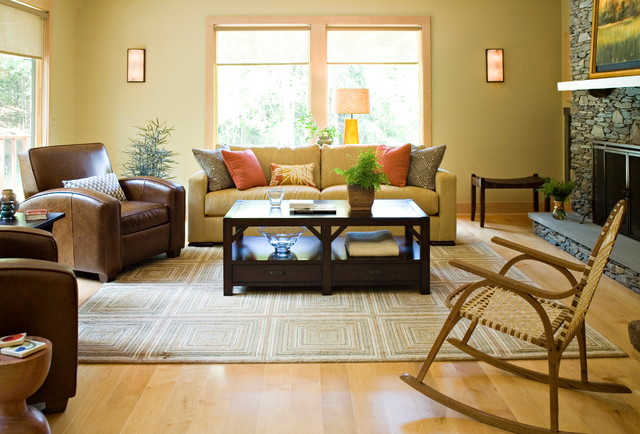 Bungalow living room design for Bungalow living room ideas