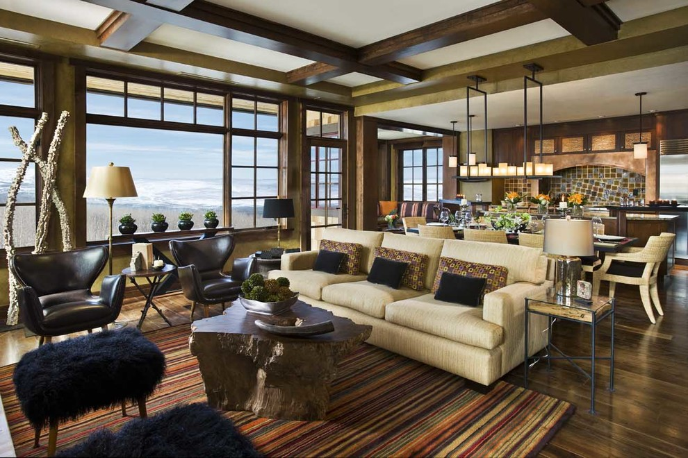 Mid Century Cabin Midcentury Living Room Denver By Andrea Lawrence Wood Interior Design