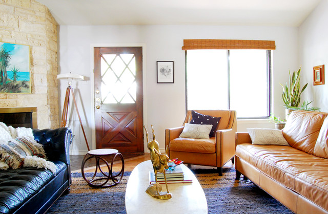 Mid Century Modern Eclectic Living Room mid century eclectic - midcentury - living room - austin -erin