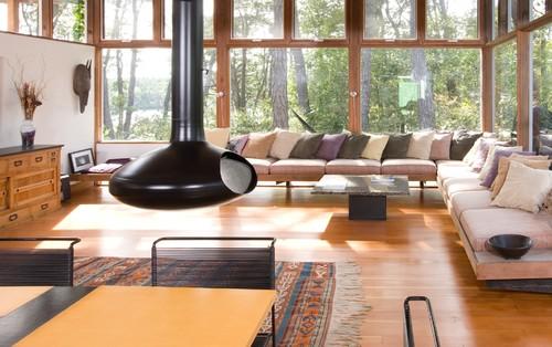 Modern Living Room Design By Boston Architect Hammer Architects