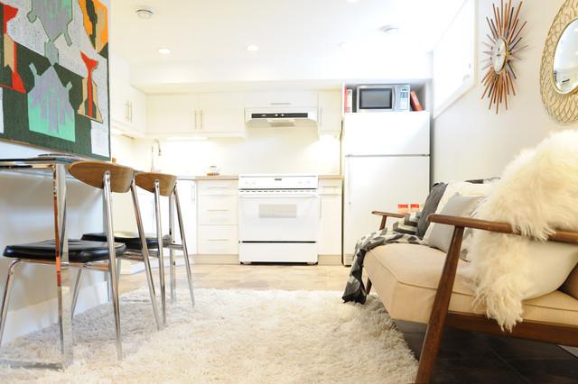 Mid century modern basement suite midcentury living room calgary
