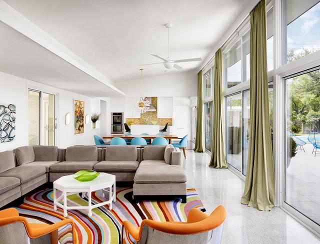 Resultado de imagem para neutral walls colorfull interior design