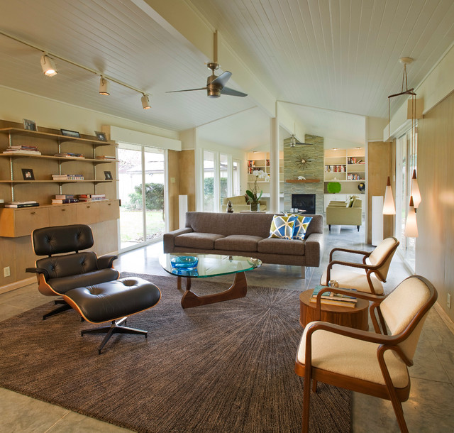Mid-Century Modern - Midcentury - Living Room - Houston - by ...