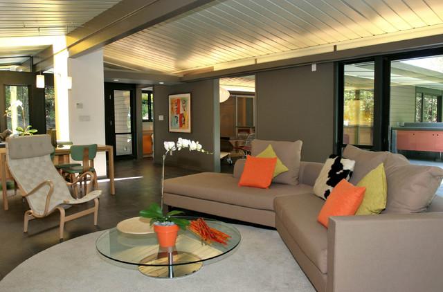 Living Room Uplighting mid century modern eichler-esque remodel sitting room