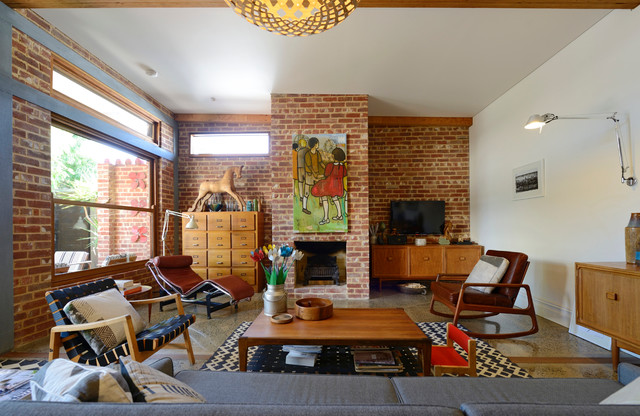 Houzz Mid Century Modern.Mid Century Modern Family Home Situated One Metre From