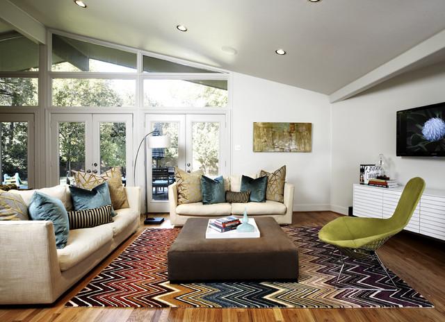 Midcentury Living Room By Beth Dotolo ASID RID NCIDQ