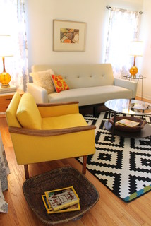 Mid Century Modern Living Room Small Bungalow