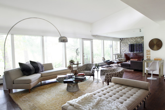 Mid Century Living Rooms Interior 20 Captivating Midcentury Living ...