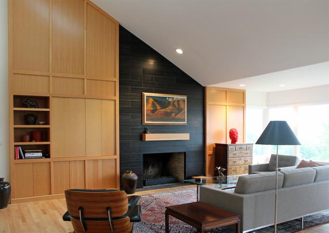 Mid century Modern Ranch Remodel Living Room Portland