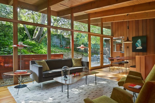 Mid Century Modern Renovation Addition Midcentury Living Room San Francisco By Koch Architects Inc Joanne