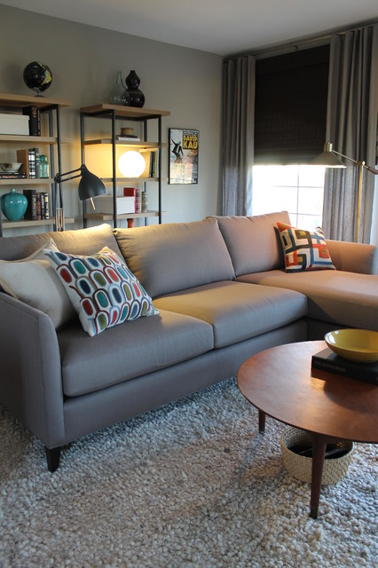 Mid Century Modern Style With Crate And Barrel Sectional
