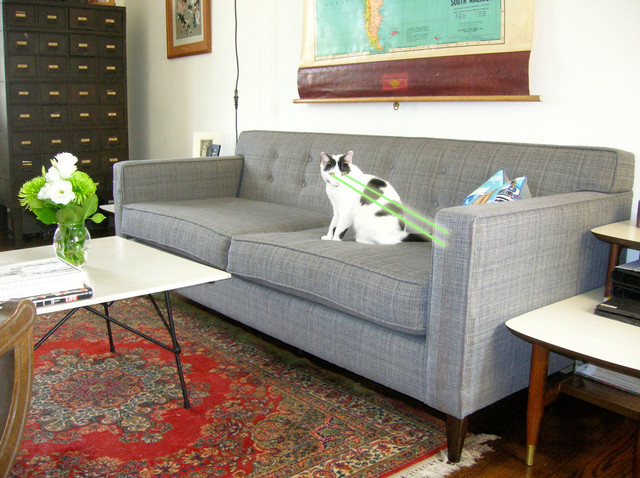 Perfect Mid Century Modern Tweed Sofa Couch (Charles)   The Sofa Company Midcentury