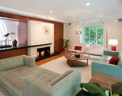 Mid Century remodel midcentury-living-room