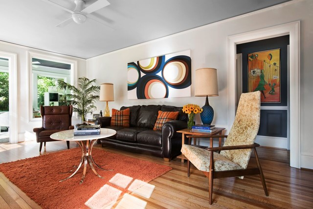 E Decorating Mid Century Modern Midcentury Living Room Other By D Cor
