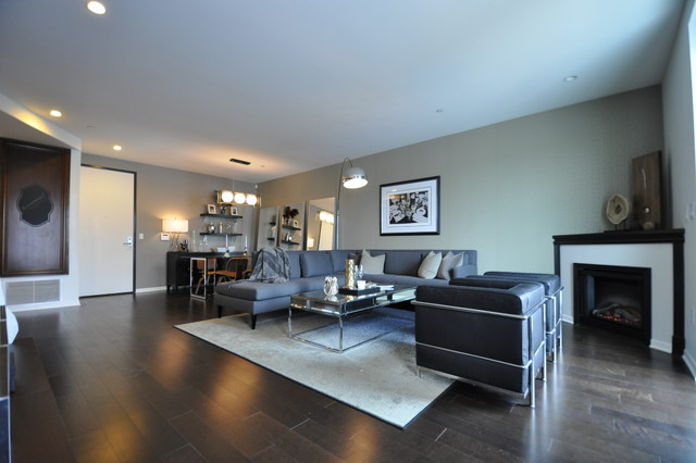 Mid-Wilshire West Hollywood Condo Open Concept Living Room
