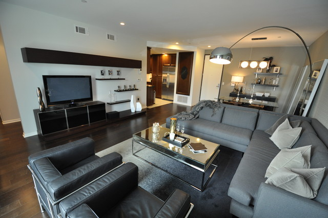 Mid Wilshire West Hollywood Condo Open Concept Living Room