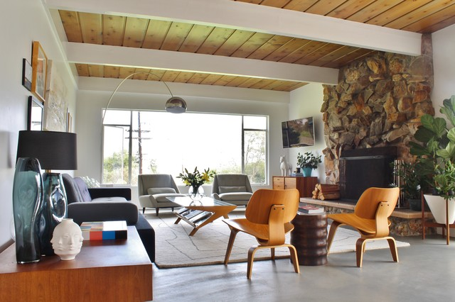 Midcentury In Del Mar Midcentury Living Room Los
