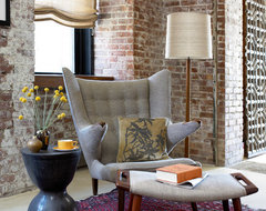 West Chelsea Loft midcentury-living-room