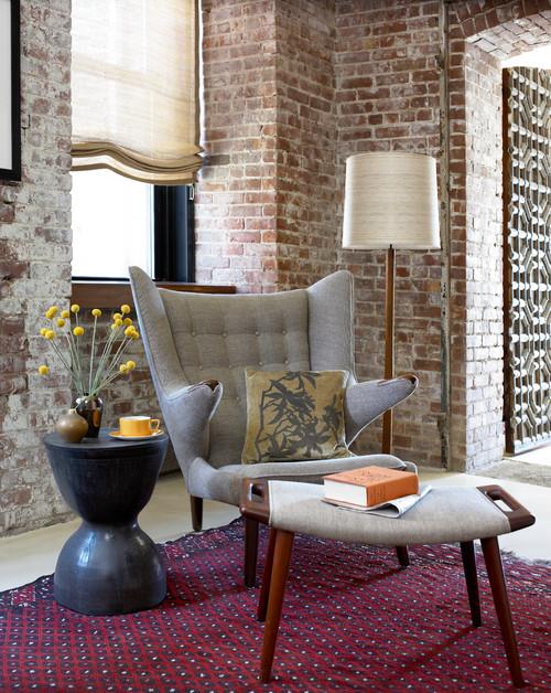 Contemporary Living Room Design By Raleigh Interior Designer Heather Garrett