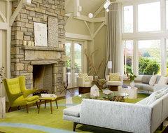 Beach House Bridgehampton midcentury-living-room