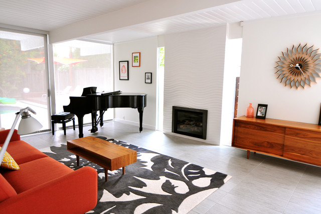 Mid Century Modern Eichler Renovation Midcentury Living Room San Francisco By Urbanism