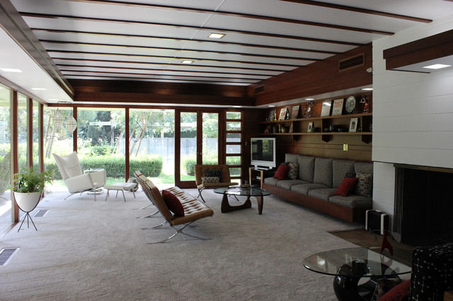 Superb Midcentury Modern Frank Lloyd Wright Usonian Living Room Fresno California  Midcentury Living Room Part 22
