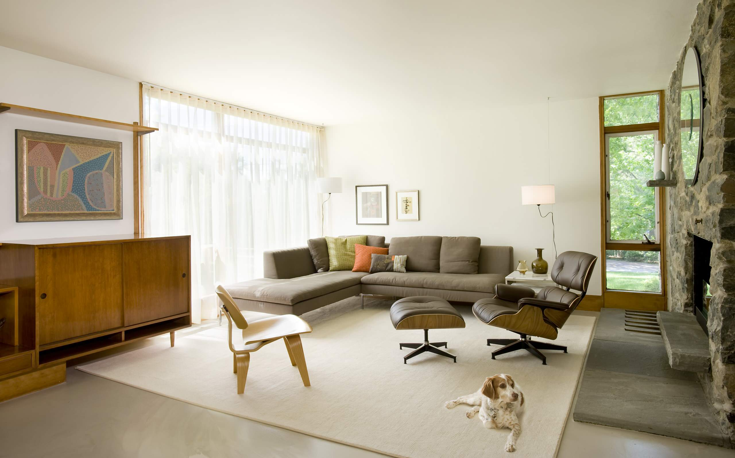 Eames Lounge Chair Living Room eames lounge chair ideas | houzz