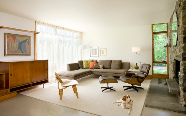 Midcentury Update Modern Living Room Boston By