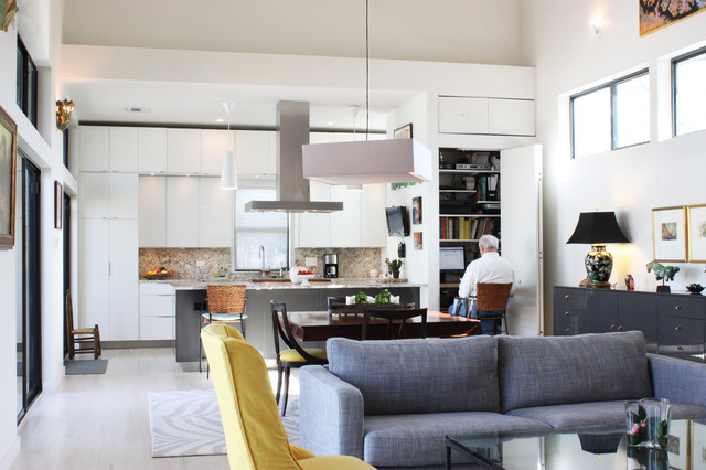 Midcity New Orleans Contemporary Living Room New