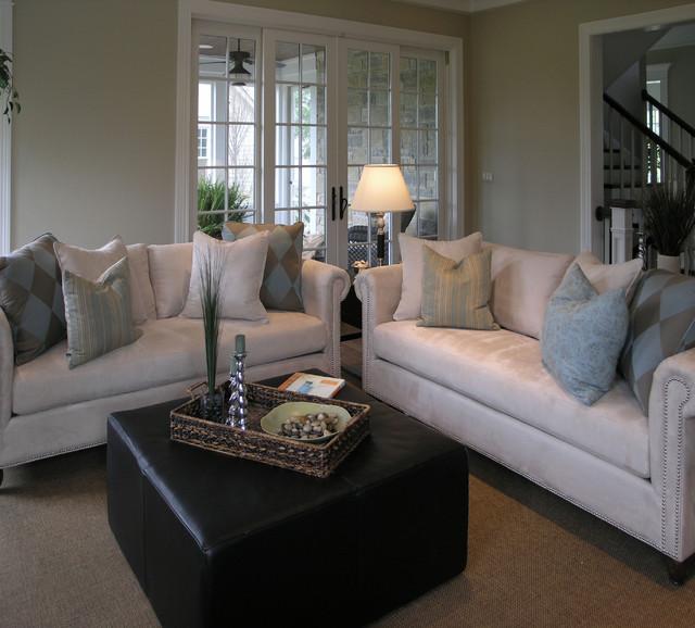 Middlefork custom residence traditional-living-room