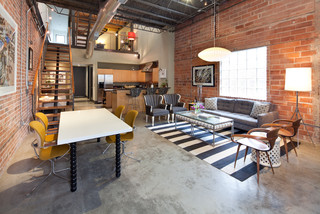Midtown Loft industrial-living-room