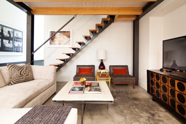 Midtown Loft Industrial Living Room Houston By