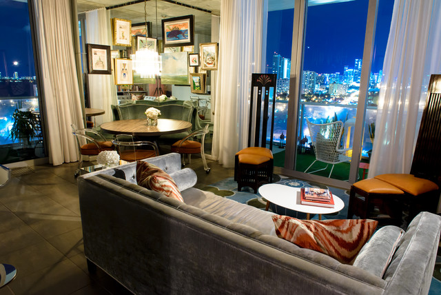 Midtown miami eclectic living room miami by errez for W living room miami