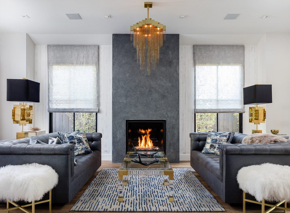 Inspiration for a transitional formal living room remodel in San Francisco with a standard fireplace