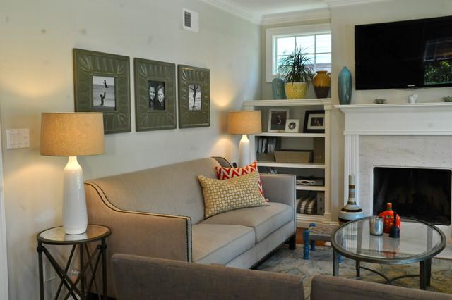 Millburn Residence modern-living-room