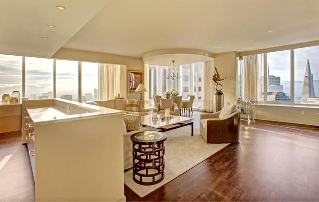 millennium tower transitional living room san