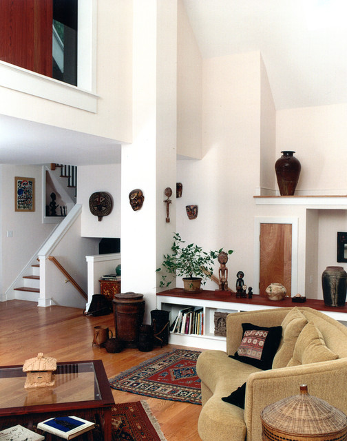 Miller House Transformed Raised Ranch Eclectic Living Room New York By Joseph Matto